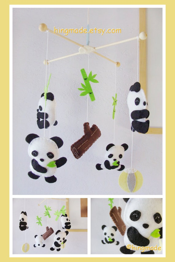 Baby Crib Mobile Panda Mobile Bear Mobile Children By Hingmade