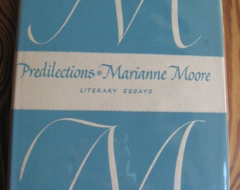 Marianne Moore PREDILECTIONS Viking 1955 Excellent Condition