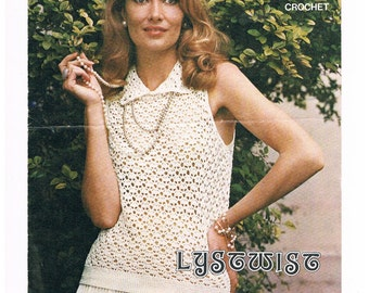 1970's Pattern - Crochet Blouse