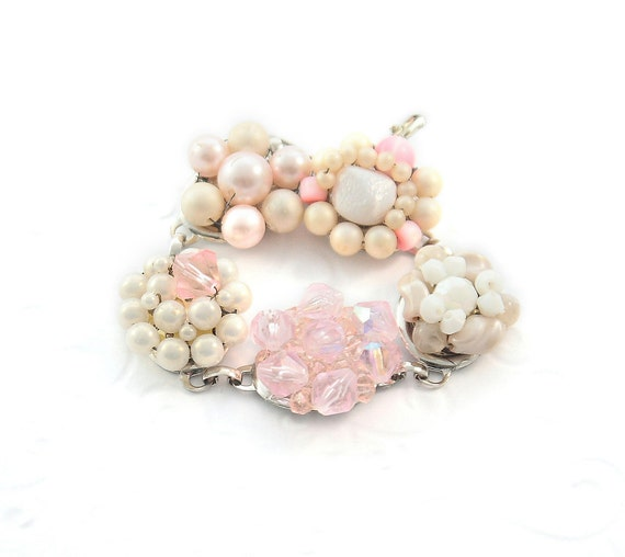 Vintage jewelry recycled, Blossom,