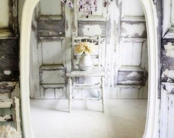 N U R S E R Y  Shabby Chic Mirror Creamy White Bow