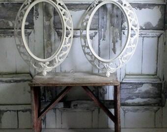 P O R T R A I T  pair of Matching Oval Frames Mirror, Chalkboard Wedding