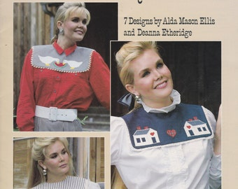 Country Collars To Applique - Leisure Arts 1113 - Appliqued Collar Patterns 1987