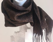 MADE TO ORDER Men's Merino Wool Scarf: Classic series in Copper