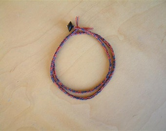 HeATHER - Thin Braid Wrap Bracelet - Cord String / Hand Knotted by fig&fig