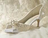 Womens Wedding Shoes, Bridal Shoes Vintage Wedding Lace Heels Women's Bridal Shoes, Wedding Shoes Custom Dyed Wedding Shoes Women's Bridal