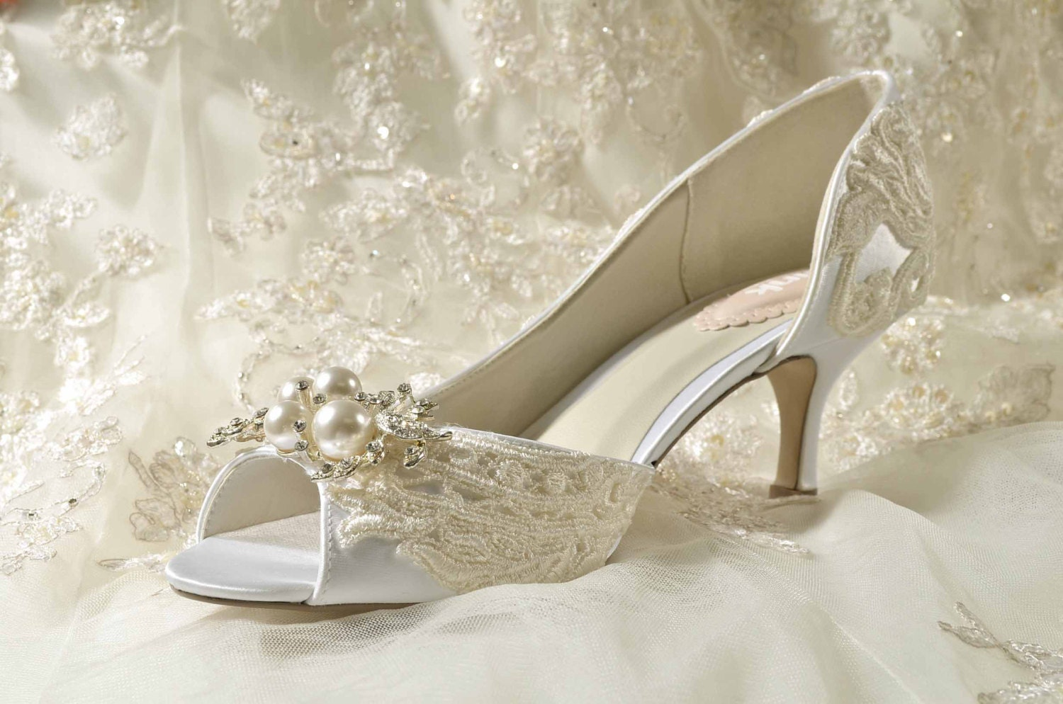 Womens Wedding Shoes Bridal Shoes Vintage Wedding Lace Heels