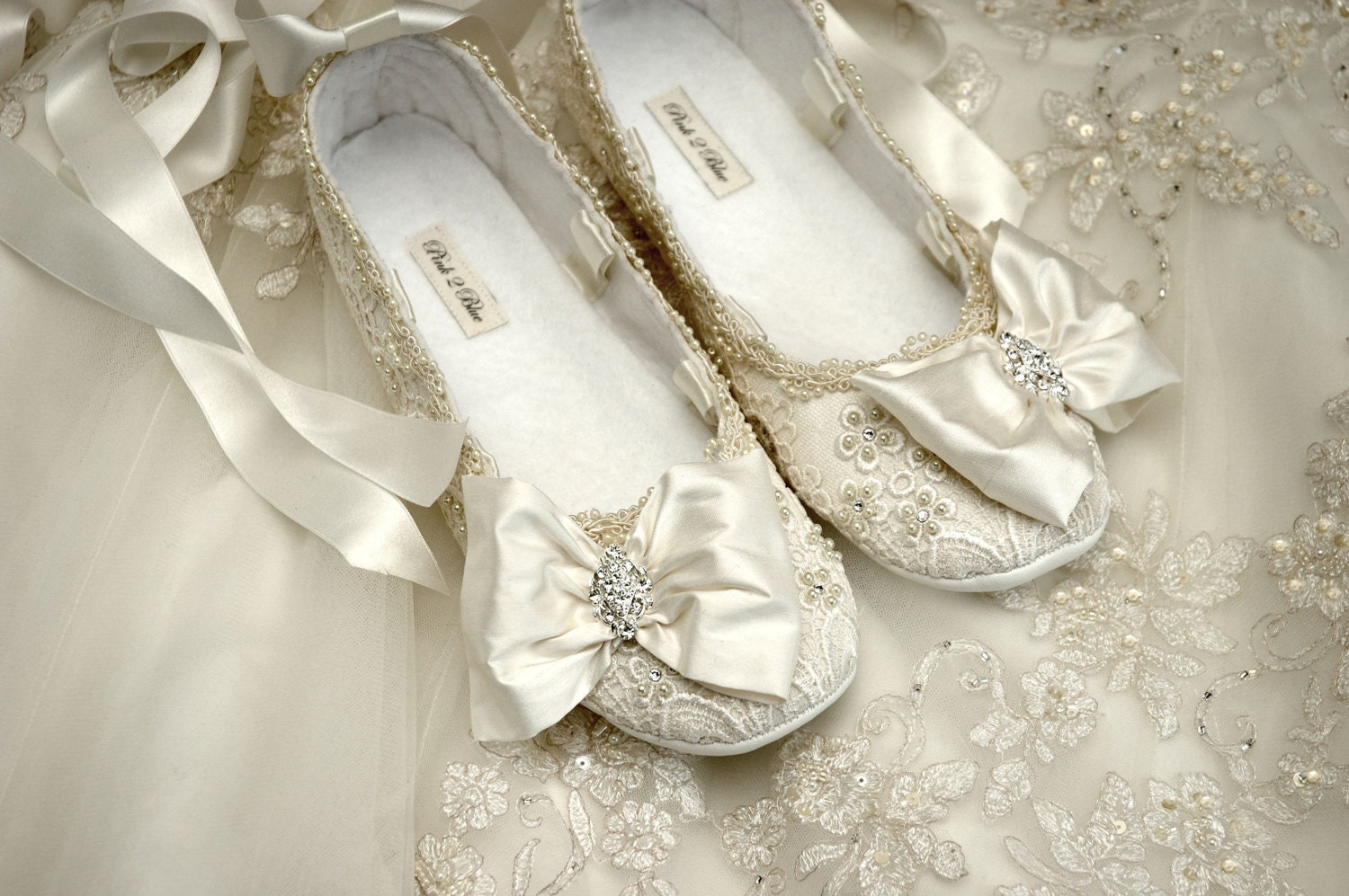 Womens Wedding Shoes Wedding Ballet Flat Wedding Vintage