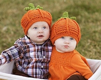 Baby Hat - Baby Pumpkin Hat - Baby Hat -Textured Pumpkin Hat  - Halloween Baby Hat - by JoJosBootique