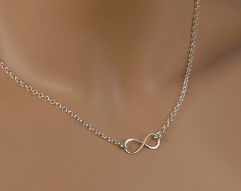 Infinity Necklace - Infinity Jewelry - Solid Sterling Silver .925