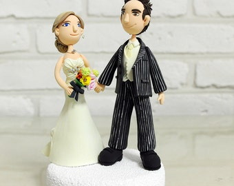 Characterized custom wedding cake topper gift keepsake
