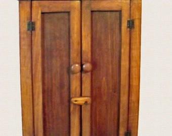 Handcrafted Rustic Wood 2 Door  Wall Cabinet