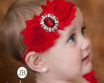 Baby Headband, baby headbands,  Red Headband, Valentines Headband, Christmas baby headband,Baby girl headband, Newborn Headband, Baby Bows.