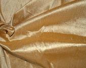 Silk Dupioni in Mustard Gold - Extra wide 54 inches, Half yard -DEX 204