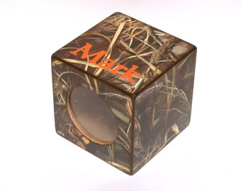 Max 4 Camo Bank Boys Wood Coin Piggy Bank Personalized