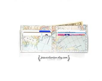 Vintage Map Handmade Wallet