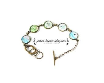 Anniversary Custom Map Location Bangle Charm Bracelet