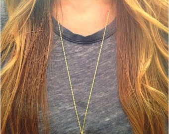 Double Gold Dipped Quartz Crystal Necklace
