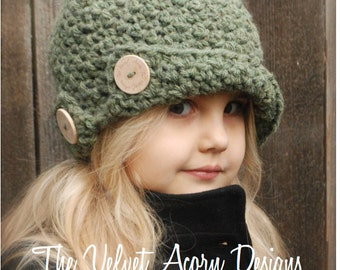 Crochet PATTERN-The Bristle Cloche' (Toddler, Child, and Adult sizes)