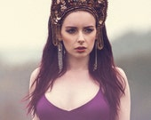 Couture Fashion 'Golden Forest' Kokoshnik Headdress