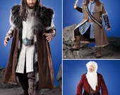 Mens Costume Costume Pattern, Men's Medieval Tunic, Cloak, and Accessories Game of Thrones, The Hobbit, Simplicity 1552 sizes xs to xl uncut