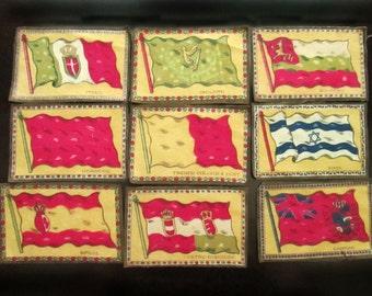 9 Tobacco Flags, each 5.25 x 3.5 in.