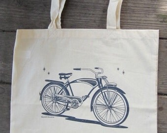 Bike Tote Bag/Maynard's Mousetrap/Bicycle Tote/Bikebag/ Market bag/Retro Bike/Schwinn/Purse