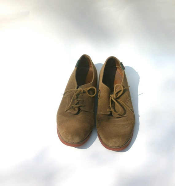 90s bass shoes 1990s brown eastlands lace up by