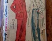 "5 BUCKS Simplicity 3354 Vintage Two Piece Pajamas & Coat Pattern 36"" Bust"