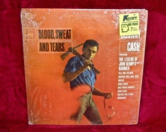 JOHNNY CASH - Blood, Sweat and Tears - 1963 Vintage Vinyl Record Album