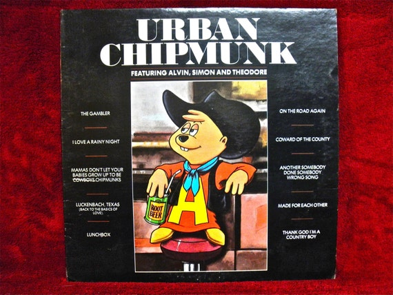 THE CHIPMUNKS - Urban Chipmunk - 1981 Vintage Vinyl Record Album