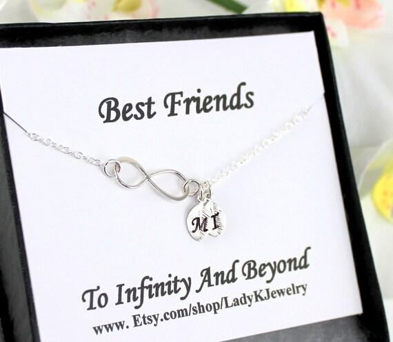 Beste freunde infinity armband mit eingravierten initialen auf for Armband fa r beste freundin