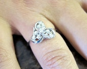 14K White gold Ladies Trinity Diamond Ring.