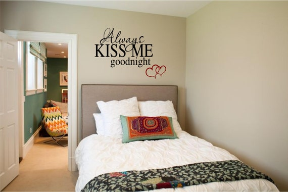 Always Kiss Me Goodnight Vinyl Wall Art Decal Romantic