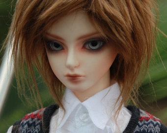 Spike Brown Fake Fur Wig for Volks BJD SD MSD and Other Size Dolls