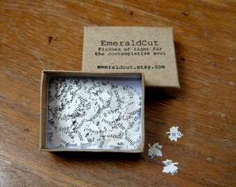200 Hand Punched TINY Leaf Confetti - Book Pages / Recycled Upcycled Scrapbooking Ephemera, Unique Bookish Gift, Fall Autumn Harvest Nature