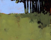 Original abstract landscape painting - Hiding place