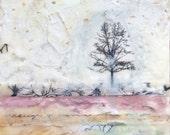 """Encaustic Art, Original Encaustic Painting, """"You Flatter Me"""", Tree Art, Encaustic"""