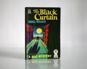 Dell Map Back Mystery Novel Number 208, The Black Curtain by Cornell Woolrich, 1941 Dell Mapback Collectible Paperback