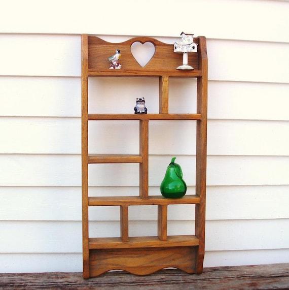 Vintage Wooden Knick Knack Shelf Wall Mounted Display Shelf