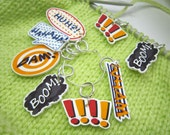 Geeky Stitch Markers - Speech bubble stitch markers - Comic book stitch markers