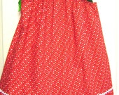 Strawberries and Hearts Pillow Case Dress - Ready to Ship