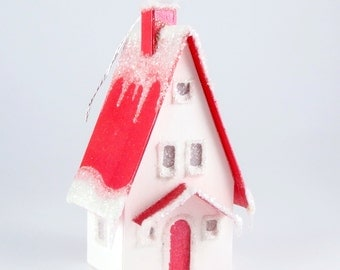 Paper House Ornament - Storybook Cottage