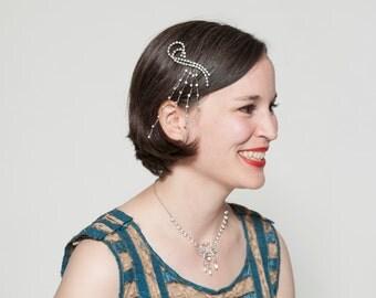 Vintage 1920s Rhinestone Hair Clip Art Deco Flapper Gatsby Bridal Fashions
