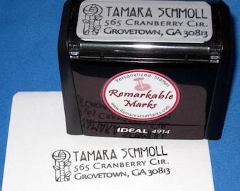 Mission Rose Self Inking Return Address Stamp Selfinking Charles Rennie Mackintosh Style Rose Address Label  Pre Inked Stamp