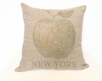 READY TO SHIP: Big Apple Pillow - Linen