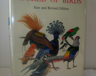 Vintage Book, Vintage Items, Used Book, Rare Book, Old Book, World of Birds by James Fisher and Roger Peterson