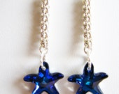 Argentium Sterling Silver JPL with Bermuda Blue Starfish Swarovski Crystals