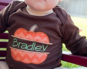Fall Baby and Childrens Sibling Outfit (Bodysuit OR Shirt) Personalized Pumpkin