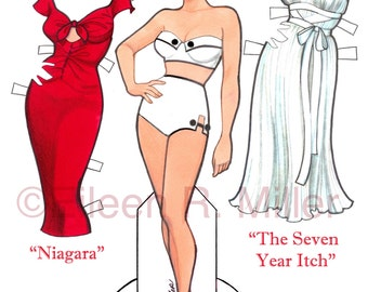 Marilyn Monroe Paper Doll